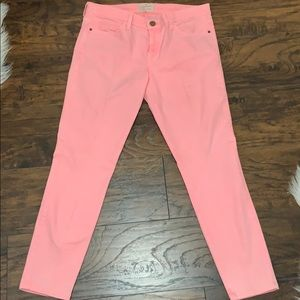 Pink jeans from Current/Elliot.